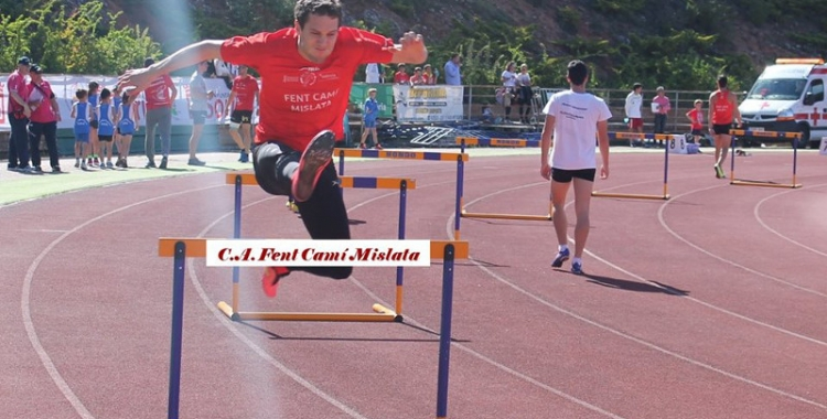 Xavi Carrión en una prova d'aquesta temporada