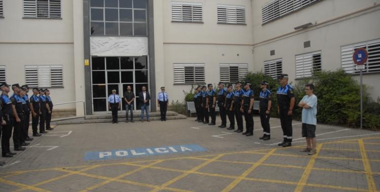 Pati de la prefactura de la Policia Municipal de Sabadell. Foto: Aleix Graell