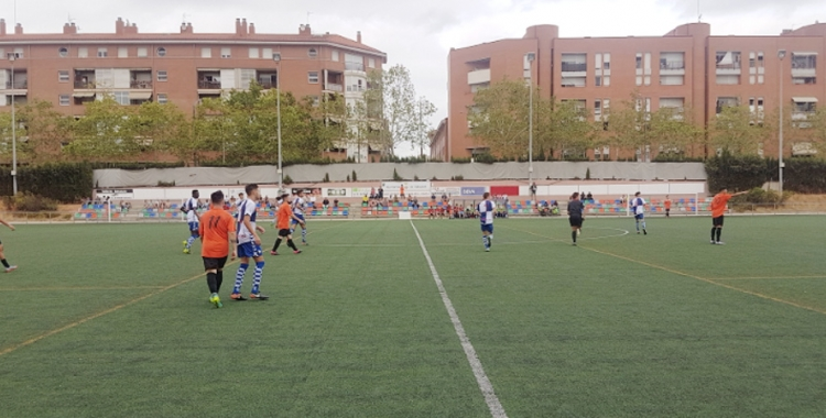 Imatge del partit de dissabte entre la Sabadellenca i el CES 'B'