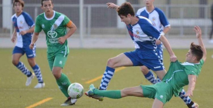 Imatge d'un partit del juvenil del Sabadell la temporada passada