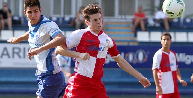 Imatge d'un partit de pretemporada del juvenil contra l'Europa   Àngel Garreta