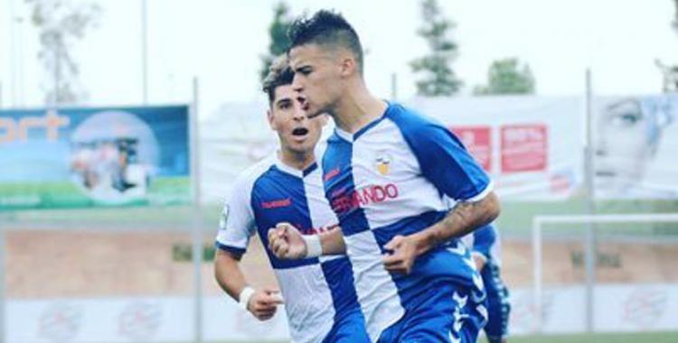 Kilian celebra un gol la passada temporada