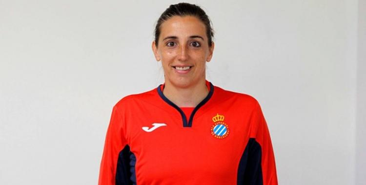 Mariajo Pons amb els colors de l'Espanyol