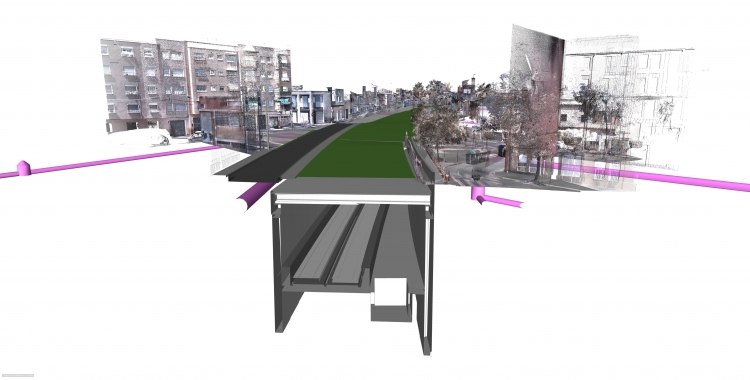 Imatge virtual de la zona un cop reformada