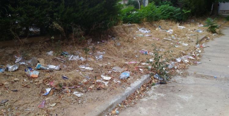 El veïnat de Merinals denuncien l'estat de deixadesa i brutícia del barri