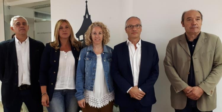 Els regidors del PDECAT i la presidenta de la formació a Sabadell/ Karen Madrid