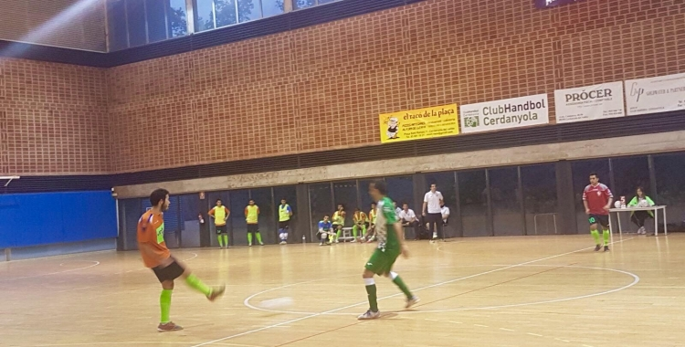 Imatge del partit de la tercera jornada entre Cerdanyola i Pia