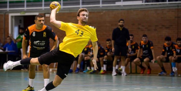 Bernat Correro en un moment del partit de dissabte