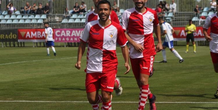 Felipe Sanchón celebrant el seu gol a Saragossa   Sendy Dihor