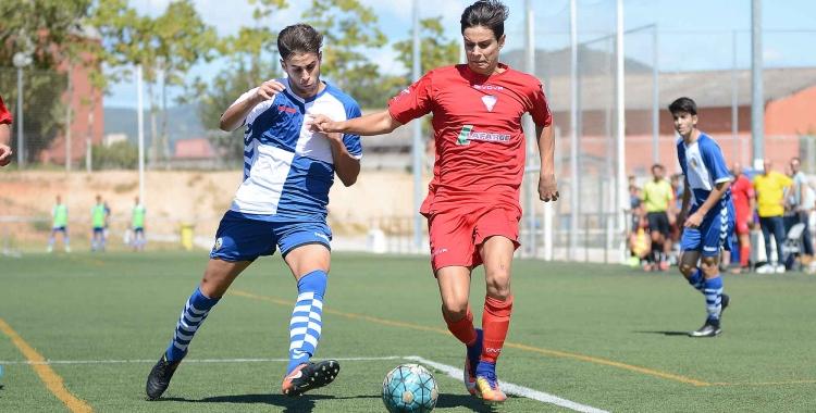 Imatge del partit entre Sabadell B i San Juan de Motncada