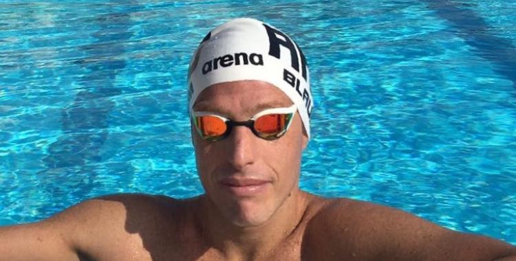 Damián Blaum, entrenant al Club Natació Sabadell
