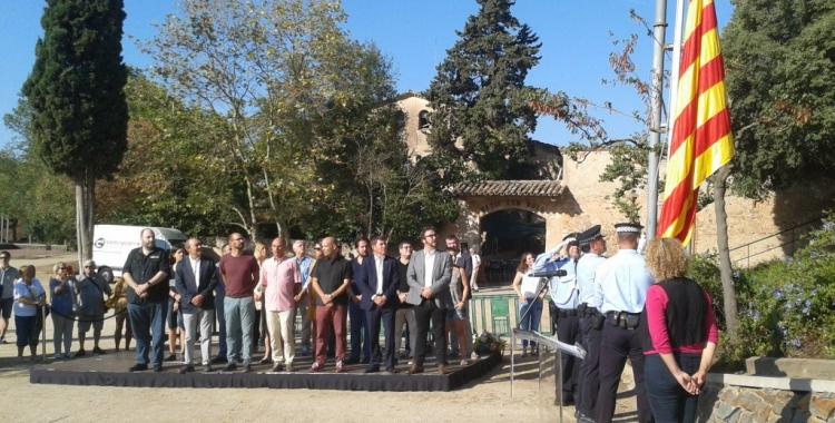 L'acte de la Diada l'any passat al monòlit a Lluís Companys