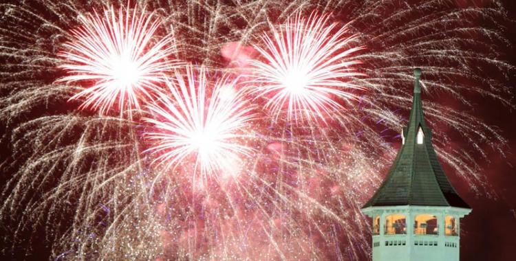Imatge del castell de focs de l'any passat