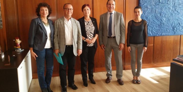 El director general de la Corporació Sanitària Parc Taulí, Joan Martí, i la rectora de la UAB, Margarida Arboix