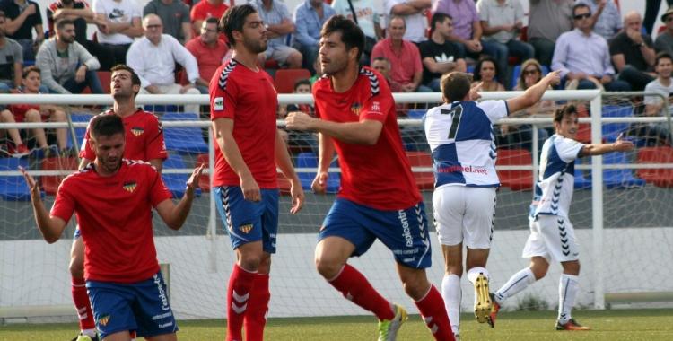 Víctor Martínez celebra el gol contra l'Atlético Saguntino | Sandra Dihor