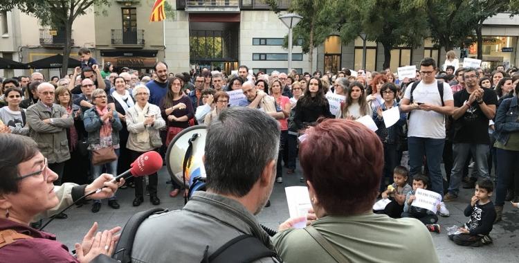 Imatge del moment de lectura del manifest. Foto: Roger Benet