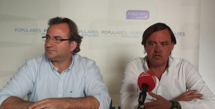 El portaveu Esteban Gesa amb el diputat Alberto Villagrasa | Pau Duran