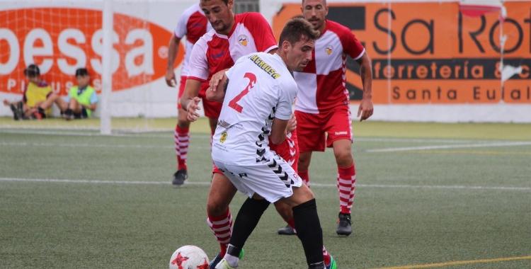 Pol Moreno ha estat un dels jugadors més encertats del Sabadell a Eivissa | Pau Vituri - CES