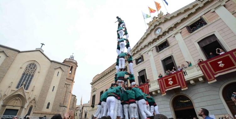 Els Saballuts en una de les seves actuacions a la plaça Sant Roc.