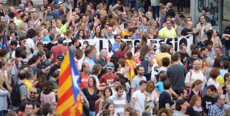 Participants en la manifestació d'avui/ Roger Benet