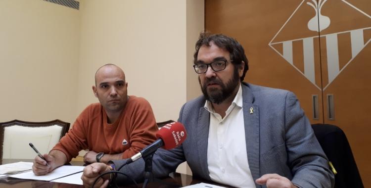 Juli Fernández ha presentat els pressupostos en la roda de premsa prèvia al ple/ Karen Madrid