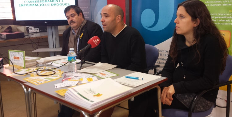 Vidal, Berlanga i Ferràndiz a la presentació del SAID   Pau Duran