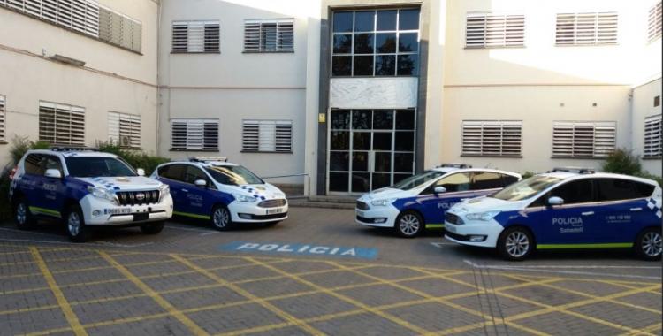 Imatge dels vehicles de la policia que l'Ajuntament va publicar a twitter/ Ajuntament de Sabadell