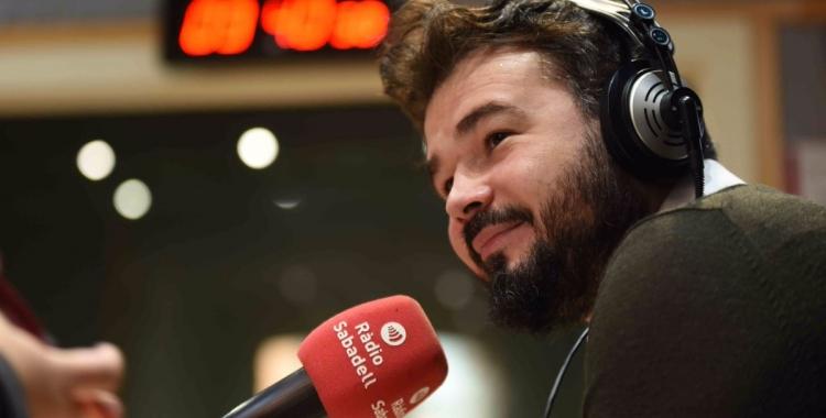 Gabriel Rufián a l'estudi de Ràdio Sabadell | Roger Benet