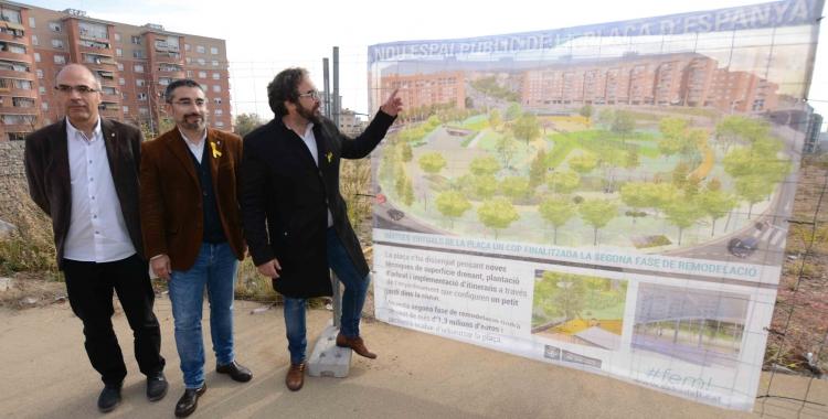 Xavier Guerrero, Gabriel Fernández i Juli Fernández presentant el projecte | Roger Benet