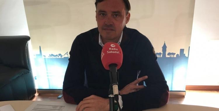 El portaveu del Partit Popular aquest matí en roda de premsa | Mireia Sans