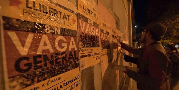 La secció d'Ensenyament de la CGT crida a la vaga general. Foto: Roger Benet