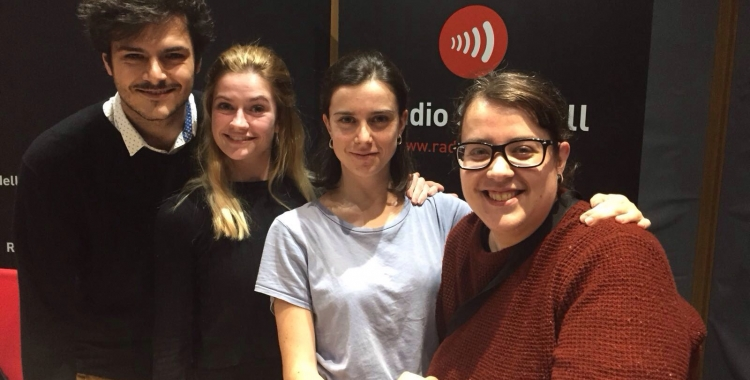 Jordi Ramoneda, Mireia Òrrit, Clara Mingueza i Sílvia Navarro. Foto: Raquel Garcia