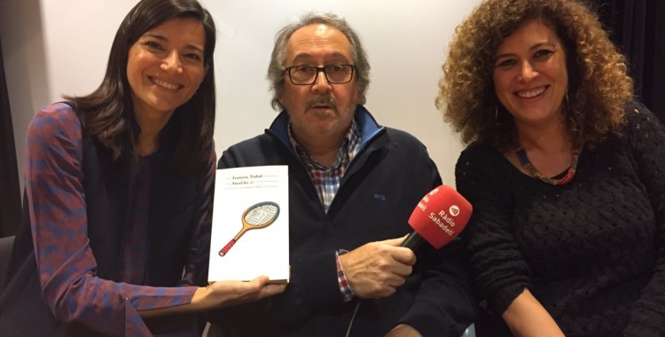 Ollo, Dalmases i Soley després de la presentació.   Foto: Ràdio Sabadell