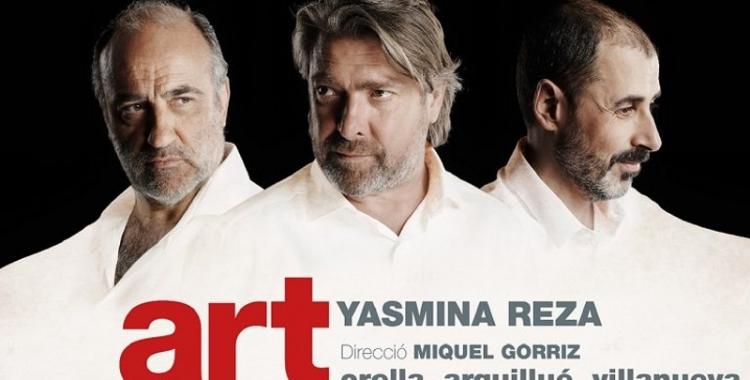 L'actor sabadellenc Lluís Villanueva participa en la única funció d'Art que es representarà al Teatre Principal.
