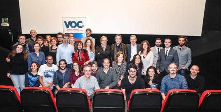 Imatge de la inauguració de la primera mostra VOC, als cinemes Texas de Barcelona/ ACN