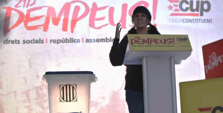 Anna Gabriel a l'acte central de la CUP a Sabadell   Roger Benet