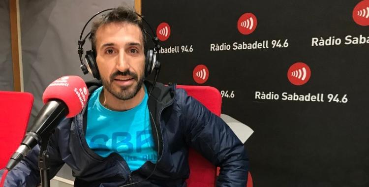 Aleix Muñío, organitzador de La Nostra als estudis de Ràdio Sabadell | Roger Benet