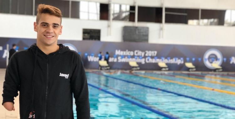Salguero disputarà avui a Mèxic la segona de les tres proves que nedarà al Mundial adaptat | Twitter