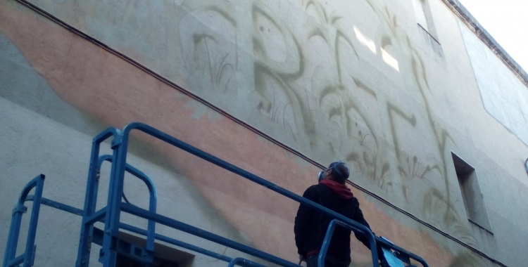 Werens pintar el grafiti del MAS | Pere Gallifa