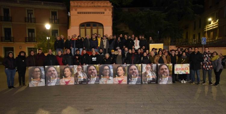 La militància d'ERC a la plaça del Gas | Roger Benet