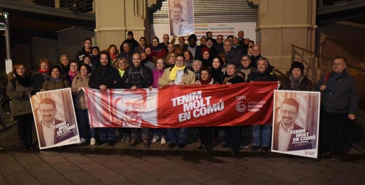 Catalunya en Comú Podem obre foc amb una encartellada al Mercat Central   Roger Benet