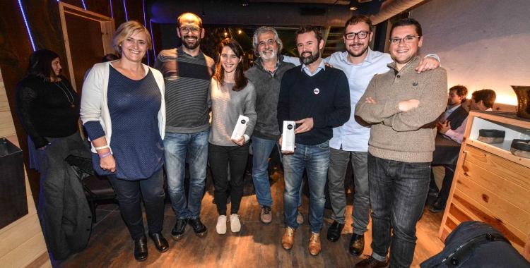 Imatge dels guanyadors durant el sopar. | Foto: Roger Benet