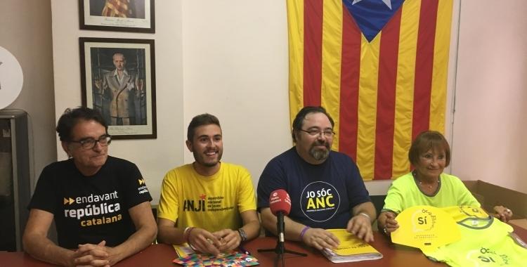 Membres de Sabadell per la independència a la roda de premsa prèvia a l'11 de setembre | Arxiu