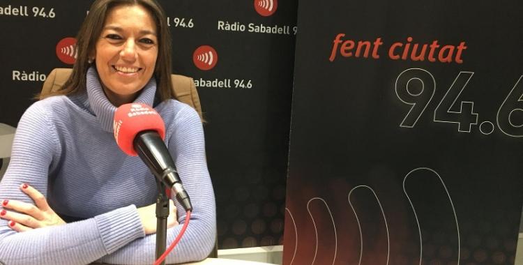 Concepció Veray, número 9 de la llista del PP, ha passat pels estudis de Ràdio Sabadell.