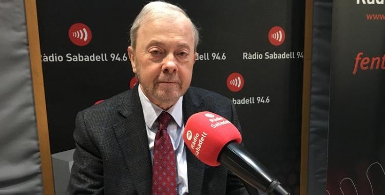 Antoni Maria Brunet, president de la Cambra de Comerç de Sabadell, a l'estudi de Ràdio Sabadell.