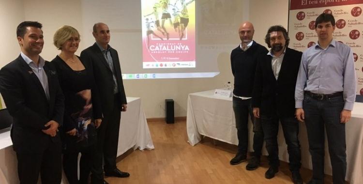 Foto de família de la presentació del Campionat   Marc Pijuan