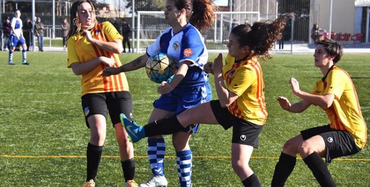 Imatge del darrer partit del Sabadell contra el Sant Andreu