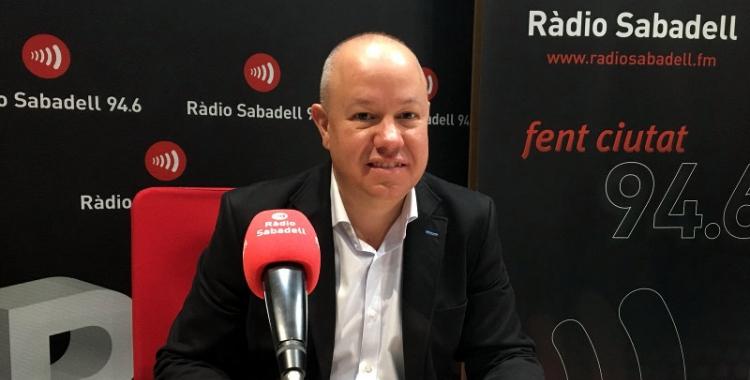 Joan Garcia, als estudis de Ràdio Sabadell/ Serveis Informatius