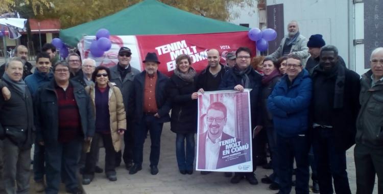 Parada informativa de Catalunya en Comú-Podem a la plaça del Pi | Pere Gallifa