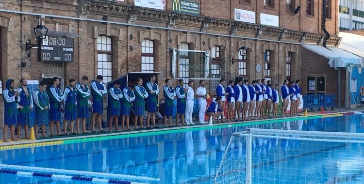 Presentació dels equips masculins del Medi i el CNS, a la piscina Josep Vallés | @cn_sabadell